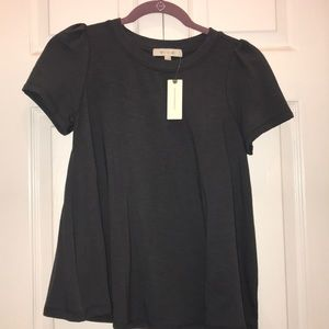 Anthropologie gray short sleeve top size xxs